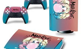 PS5 Console and Controller Skin Vinyl Sticker Decal Cover for PlayStation 5 Console and Controllers, Disk Edition -Mad Love