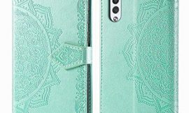 LG Velvet 5G Case, Bear Village Folio Flip PU Leather Protective Cover Case with Credit Card Slot and Magnetic Closure Compatible with LG Velvet 5G, Green
