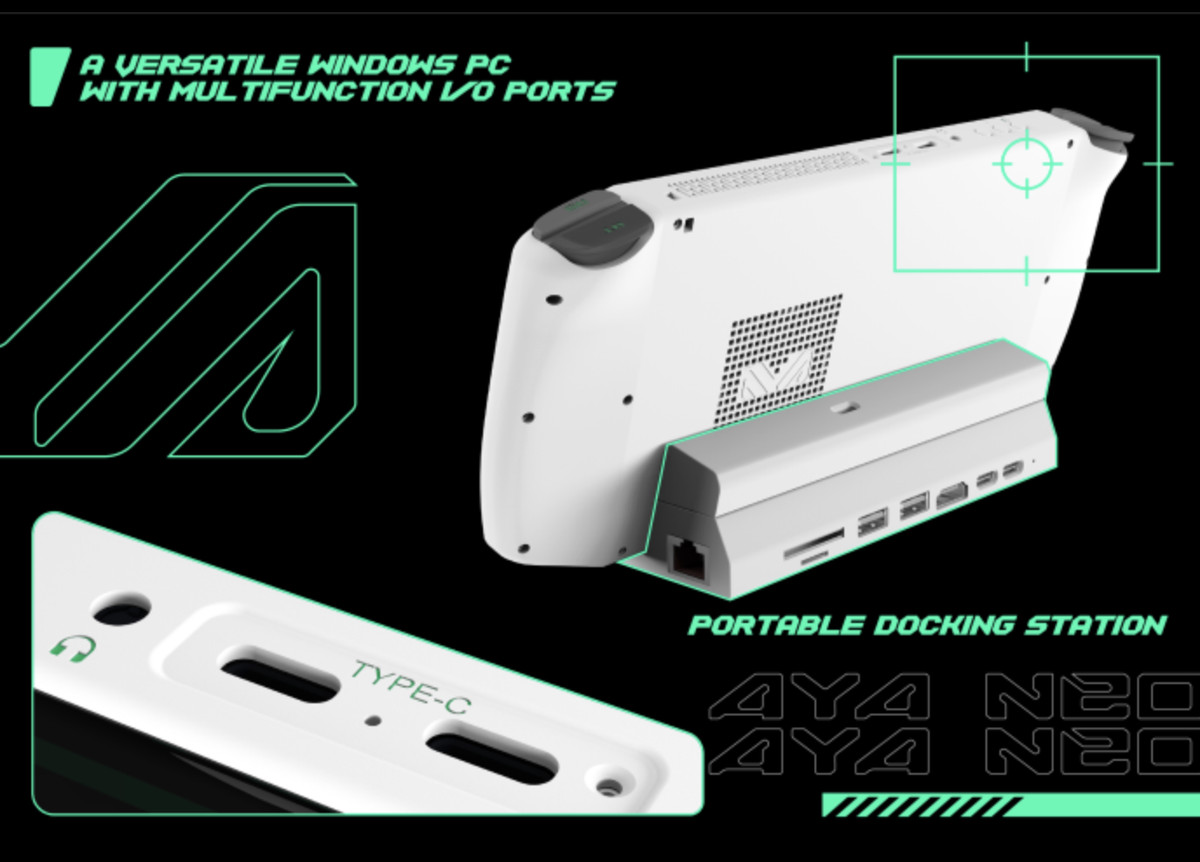 The Switch-style Aya Neo handheld gaming PC is now on Indiegogo, starting at $789