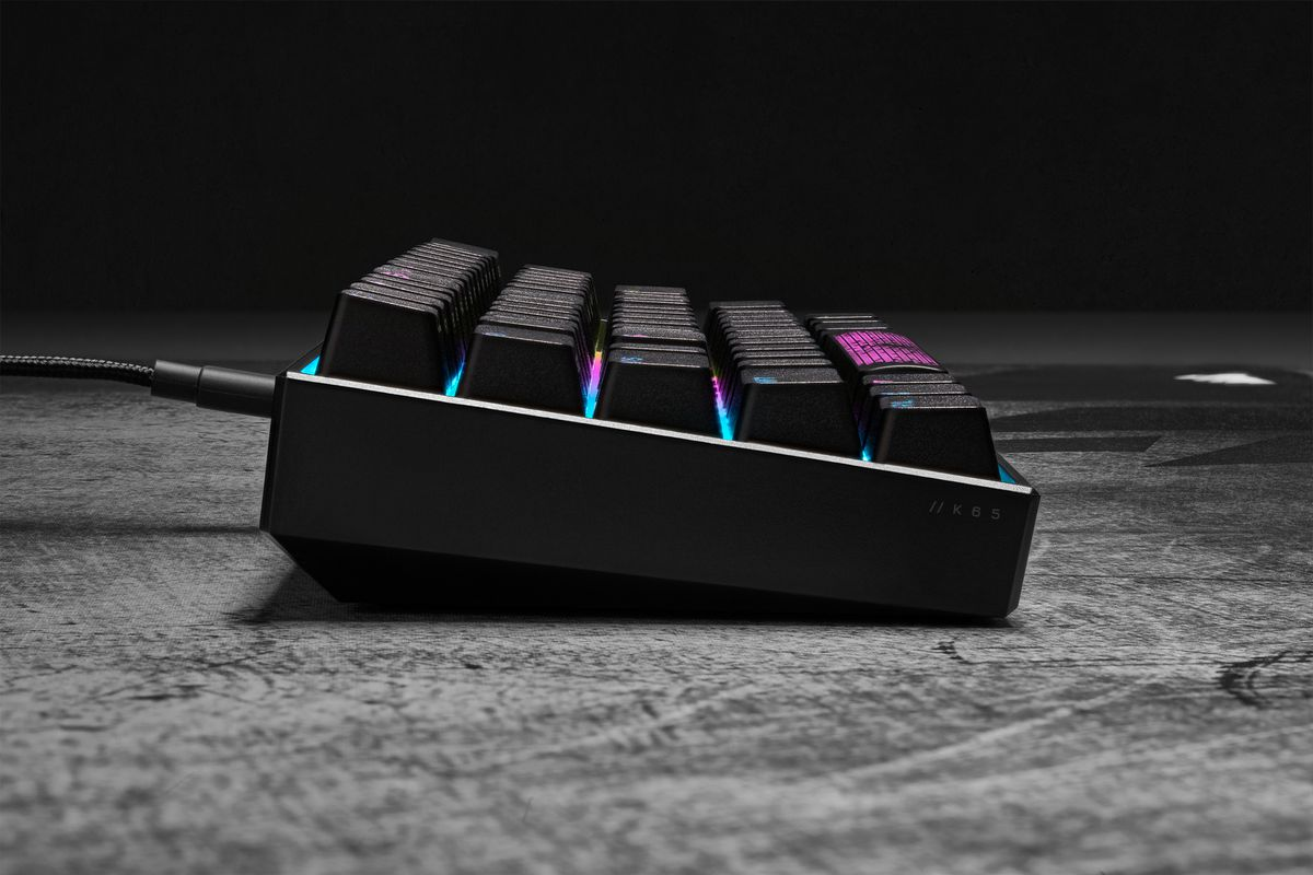 Corsair's K65 RGB Mini gaming keyboard is for people who think less is more
