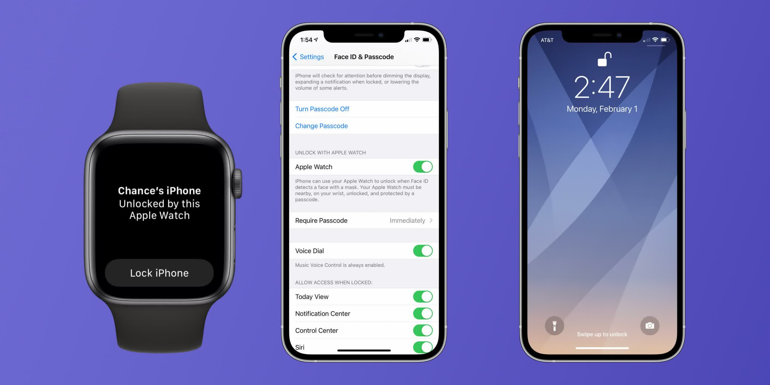 iPhone + Apple Watch mask unlock finally arrives next week with watchOS 7.4 and iOS 14.5