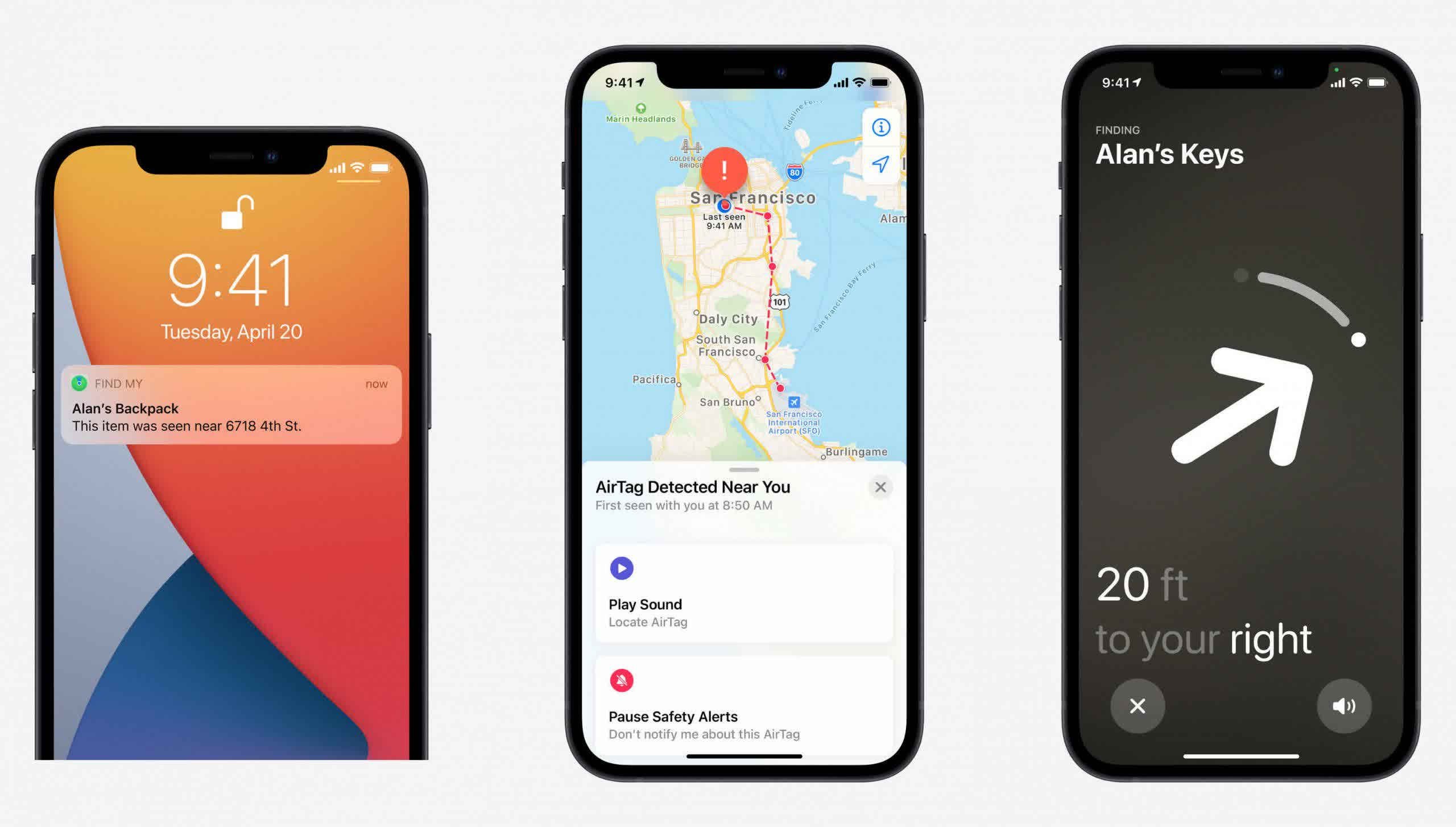 Apple reveals that AirTag will inform you if you are being 'stalked'