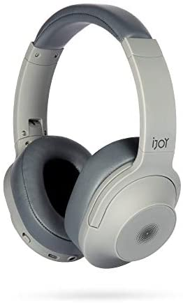 iJoy Hypnotic Active Noise-Cancelling Headphones-Wireless Over Ear Bluetooth Headphones with 5.0 High Connectivity- Over-Ear ANC Headset Rich HQ Sound& Deep Bass- 35 Hour Battery- Backup 3.5mm Cable