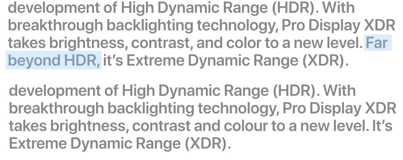 Pro Display XDR marketing drops 'far beyond HDR' label in UK