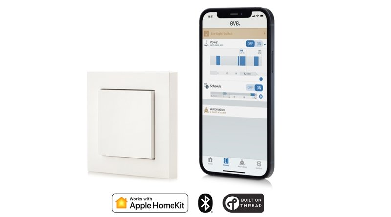 Eve releases first Thread-enabled HomeKit light switch in EU