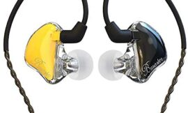 in-Ear Monitors, BASN Bmaster Triple Driver HiFi Stereo Noise-Isolating with Enhanced Bass for Musicians Stage/Audio Recording (PRO Golden/Black)