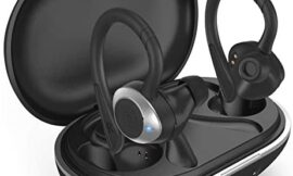 COMISO Wireless Earbuds In Ear Headphones Deep Bass IPX7 Waterproof Noise Cancelling Sport Earphones 36H Playtime Charging Case Mono Stereo Mode BT 5.0 with Mic for Outdoor Running Gym Workout (Black)