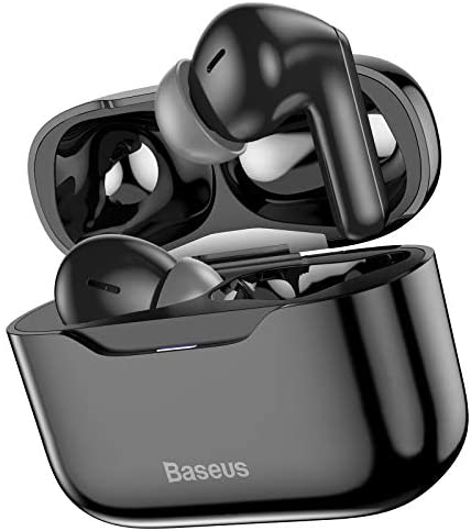 Baseus S1 Wireless Earbuds Active Noise Cancelling, Bluetooth 5.1 Smart Touch Control ANC Headphones in-Ear with Microphone Built-in Mic Headset TWS Stereo Earphones Black