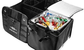 3 Compartment Separable Collapsible Car Trunk Storage Organizer with Cooler Bag