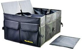 MaxWorks 50337 Collapsible Car Trunk Storage Organizer Foldable With Non-Slip Bottom Securing Carry Straps