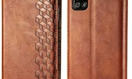 for Samsung Galaxy A51 5G Wallet Case, Premium Leather Case with (Card Holder) (Kickstand) (Magnetic Closure) Flip Cover Case for Samsung Galaxy A51 5G (Brown)