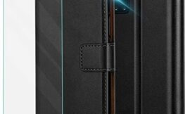 Pinzoveno Galaxy A51 5G Wallet Case with Card Holder Slot and Screen Protector Kickstand PU Leather Folio Phone Cover for Samsung Galaxy A51 5G – Black