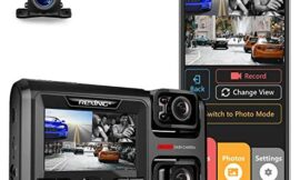 """Rexing W303 3-Channel Front, Cabin, Rear Back up Triple Dash Camera 1080p+720p+720p 3"""" LCD Screen, dashcam W/Night Vision, WI-FI, Loop Recording, G-Sensor, Waterproof, Supercapacitor, 128GB Supported"""