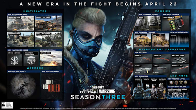 'Call of Duty: Warzone' season 3 update takes Verdansk to 1984