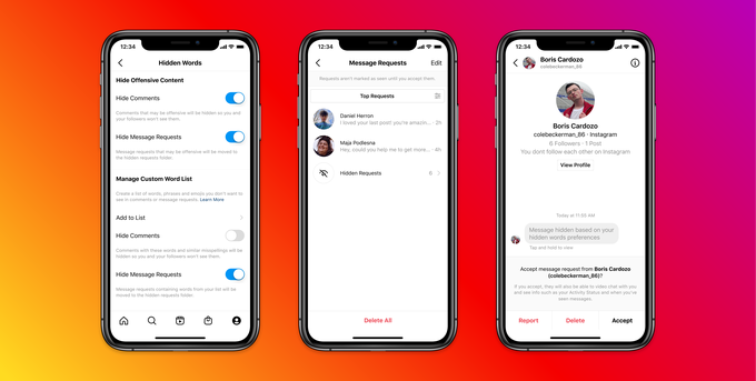 Instagram launches tools to filter out abusive DMs based on keywords and emojis, and to block people, even on new accounts – TechCrunch