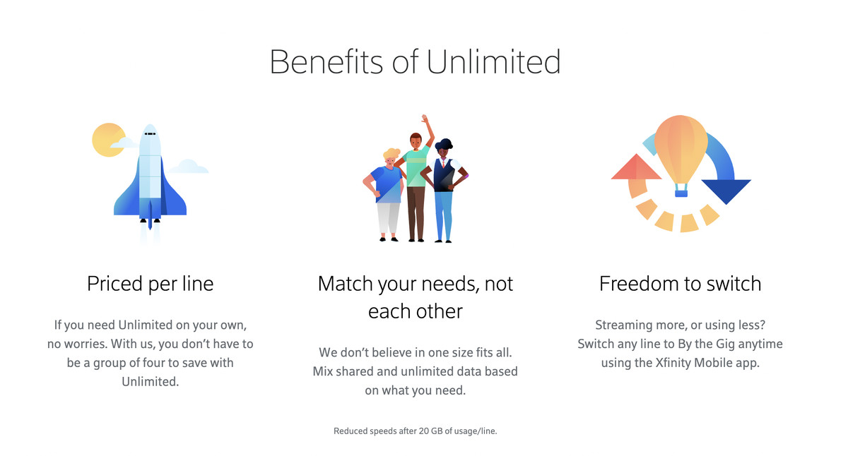 Xfinity Mobile now offers multiple-line discounts for unlimited plans