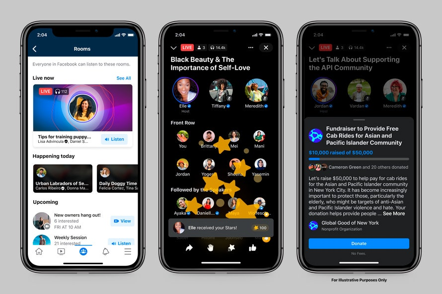 Facebook Announces Live Audio Rooms, Its Clubhouse Clone