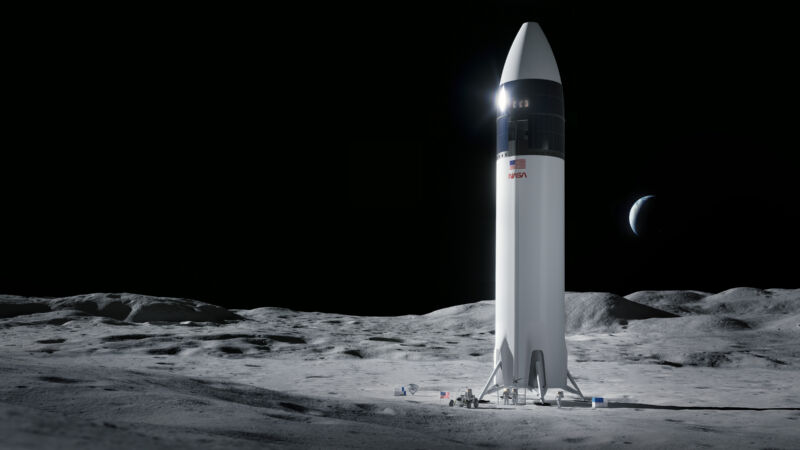 NASA selects SpaceX as its sole provider for a lunar lander