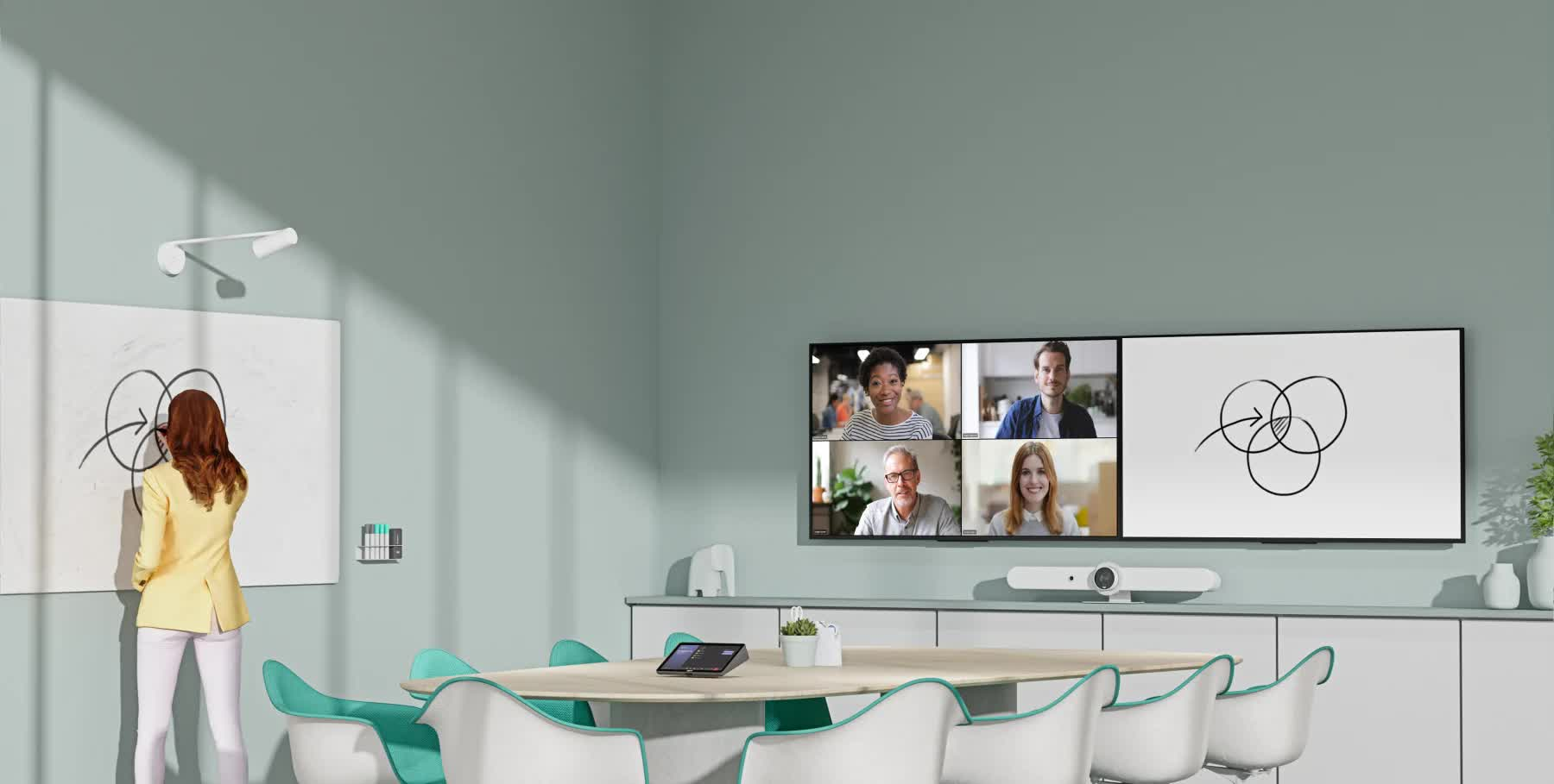 Read more about the article Logitech Scribe is a $1,200 AI-powered whiteboard camera for hybrid workspaces