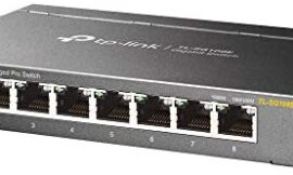 TP-Link 8-Port Gigabit Ethernet Easy Smart Switch | Unmanaged Pro | Plug and Play | Desktop | Sturdy Metal w/Shielded Ports | Limited Lifetime Replacement (TL-SG108E) (Renewed)