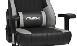 YITAHOME Gaming Chair Big and Tall Heavy Duty 400lbs Ergonomic Video Game Chair Racing Style High Back Office Computer Chair with Headrest and Lumbar Support,Black