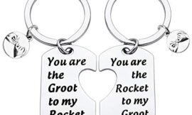 BLEOUK Movie Inspired Gift Gift for Friend Best Friend Keychain Set You are The Groot to My Rocket Friendship Jewelry