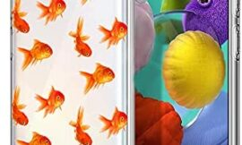 Kavin Samsung Galaxy A51 5G Clear Case – Golden Fish Pattern Design Printed Slim Fit Crystal Clear Transparent TPU Shockproof Protective Bumper Case for Samsung Galaxy A51 5g [Not for 4G].