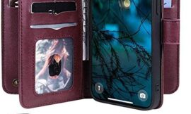Artfeel Compatible with Samsung Galaxy A51 5G Case,Wallets Case for Women Men with 10 Card Slots,Samsung Galaxy A51 5G PU Leather Flip Folio Cover with Kickstand Feature-Red Wine
