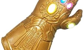 Latex Infinity Thanos Hand Glove with Light Up LED Gift for Halloween and Cosplay Gold