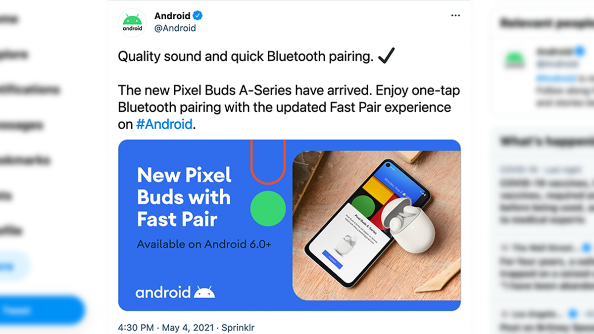 Google Accidentally Announced the Pixel Buds A-Series on Twitter – Review Geek