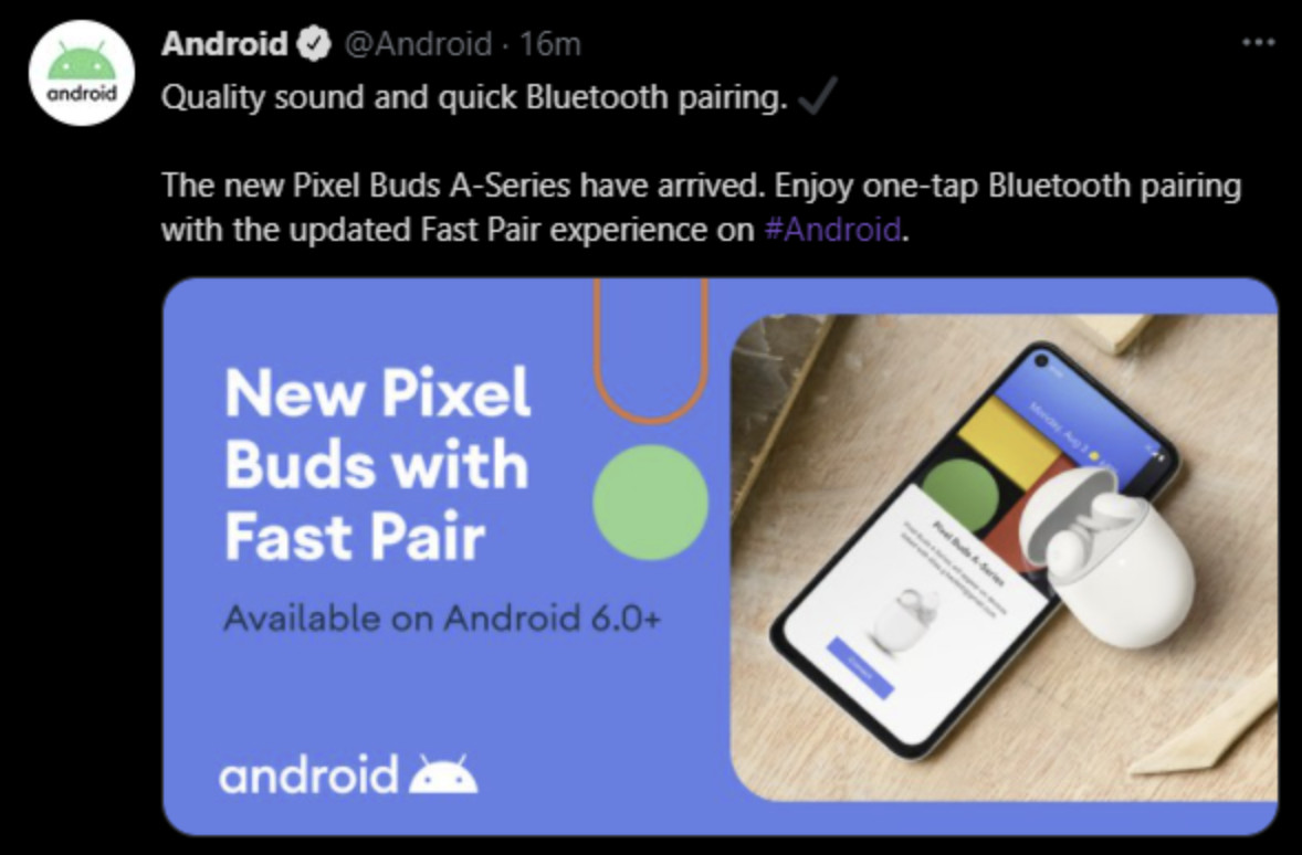 Google prematurely announces 'Pixel Buds A-Series' with now-deleted tweet