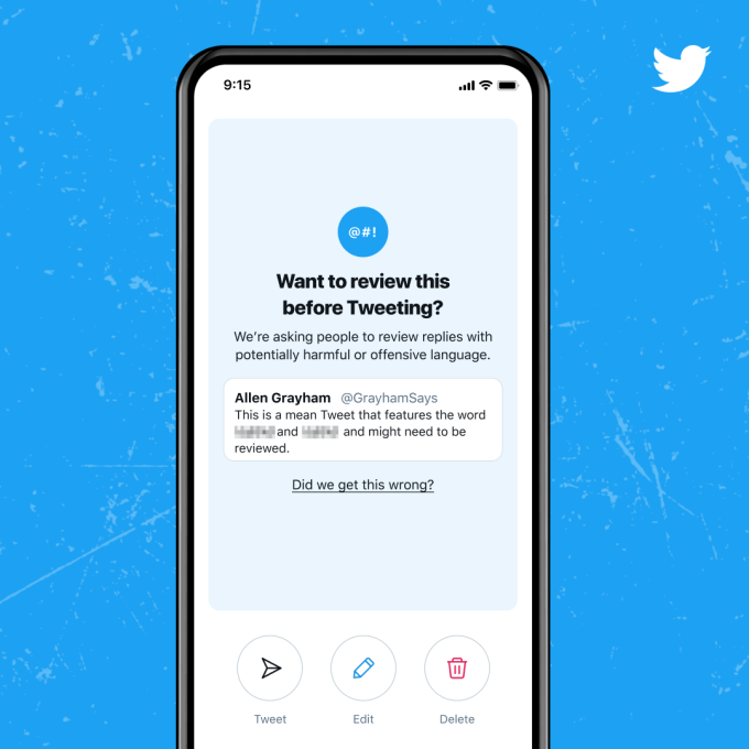 Twitter rolls out improved 'reply prompts' to cut down on harmful tweets – TechCrunch