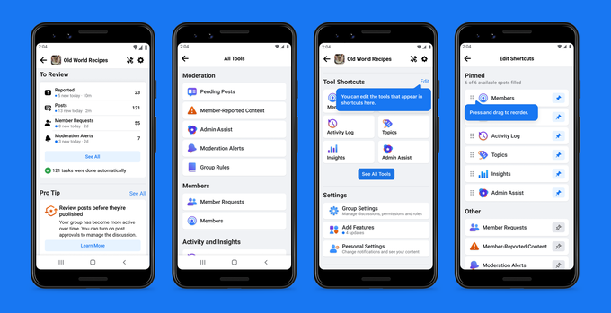 Read more about the article Facebook rolls out new tools for Group admins, including automated moderation aids – TechCrunch