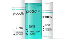 Proactiv 3 Step Acne Treatment – Benzoyl Peroxide Face Wash, Repairing Acne Spot Treatment for Face and Body, Exfoliating Toner – 30 Day Complete Acne Skin Care Kit