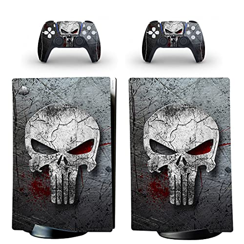 Adventure Games – Skull, Grey – Vinyl Console Skin Decal Sticker + 2 Controller Skins Set – Compatible with PlayStation 5 DIGITAL Edition