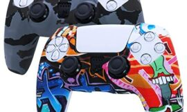 PS5 Controller Grip Skin RALAN,Silicone Gel Controller Cover Skin Protector Compatible for Sony PS5 Playstation 5 Controller Skin with 10 Thumb Grips (Octopus White Smoky Gray)