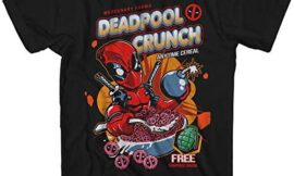 Marvel Deadpool Crunch Cereal Comics Funny Adult Tee Graphic T-Shirt for Men Tshirt Clothing Apparel