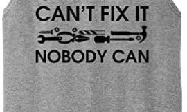 Comical Shirt Mens If Grandpa Can't Fix It Nobody Can Funny Fathers Muscle Tank