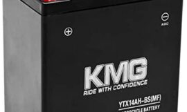 KMG Battery Compatible with Kawasaki 220 KLF220-A Bayou CN 1992-2002 YTX14AH-BS Sealed Maintenance Free Battery High Performance 12V SMF OEM Replacement Powersport Motorcycle ATV Scooter Snowmobile