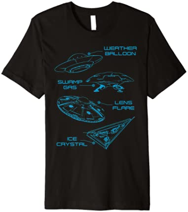 UFO Lens Flare Weather Balloon Swamp Gas Ice Crystal T-Shirt