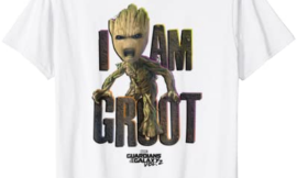 Marvel Guardians Vol.2 I AM GROOT Cute Angry T-Shirt C1