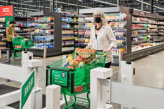 Amazon brings cashierless tech to full-size grocery store for first time at new Seattle-area location