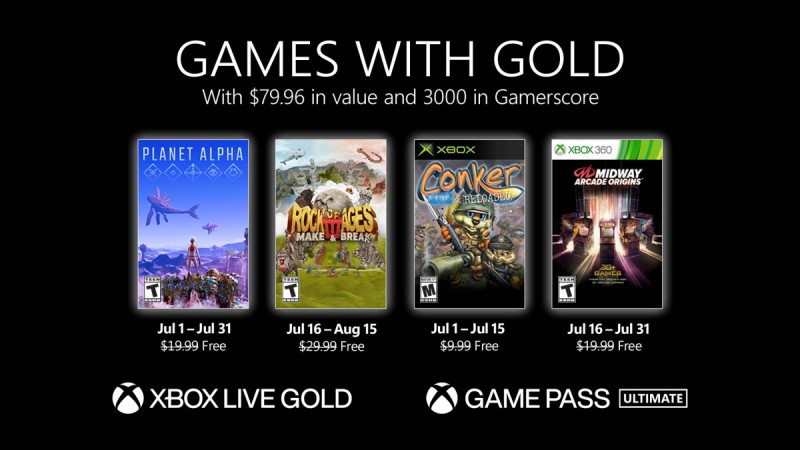 Read more about the article Xbox Games With Gold July 2021 Free Games Revealed