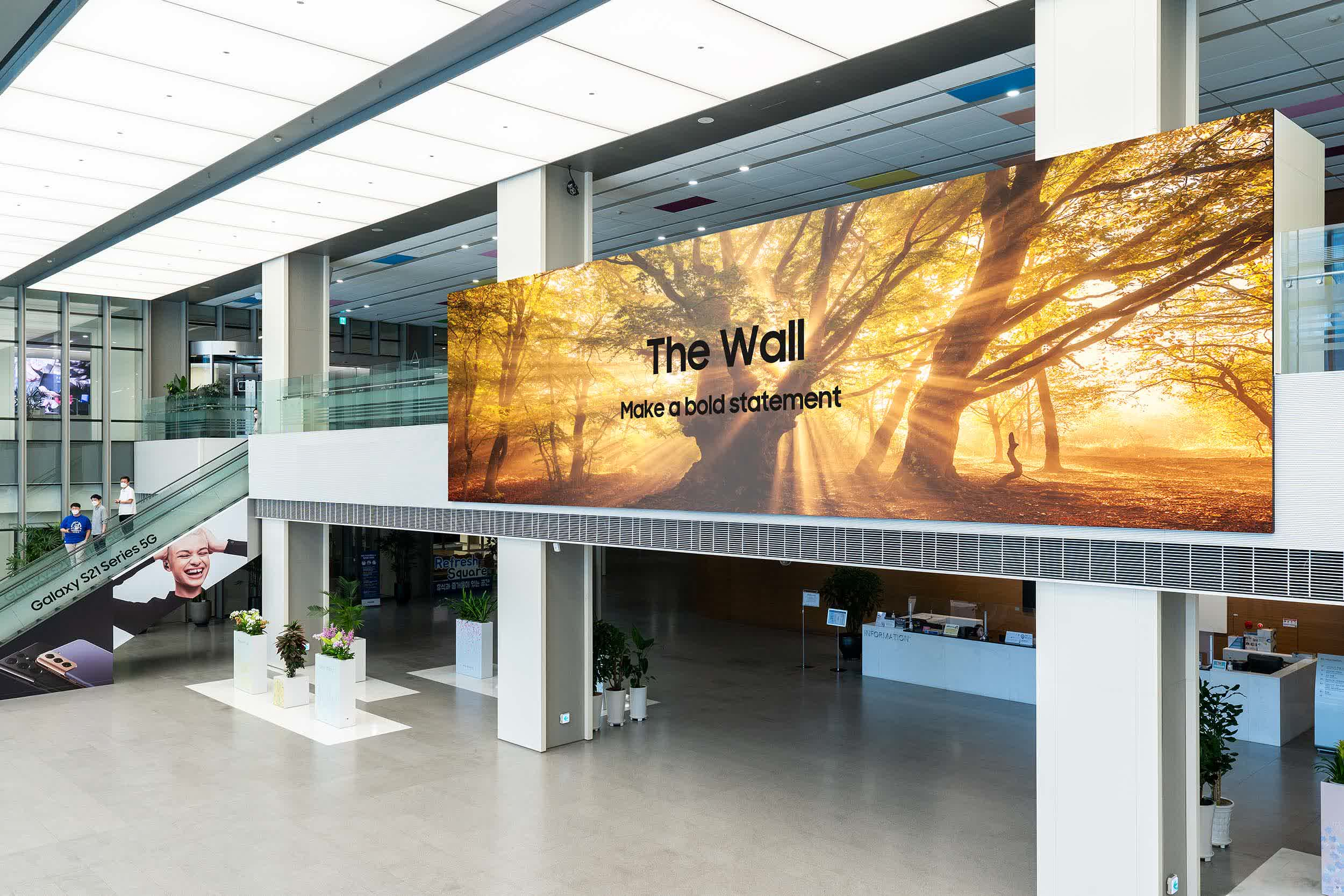 Read more about the article Samsung's latest The Wall TV measures over 1,000 inches diagonally