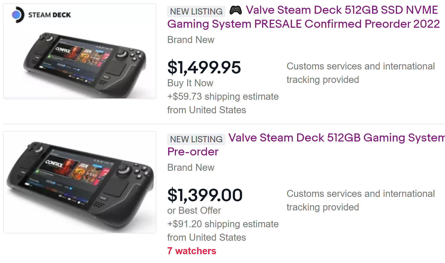 Read more about the article Scalpers are already selling the Steam Deck for over $1,000