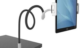 """Gooseneck Tablet Holder, Lamicall Tablet Mount : Flexible Arm Tablet Stand Compatible with iPad Mini, Pro, Air, Switch, Galaxy Tabs, More 4.7-10.5"""" Devices – Black"""