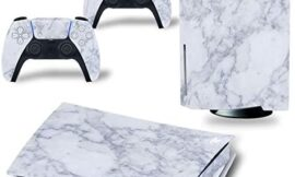 PS5 Skin Stickers Decal Full Body Vinyl Cover for Playstation 5 Console and Controllers (Disk Edition, Marble)