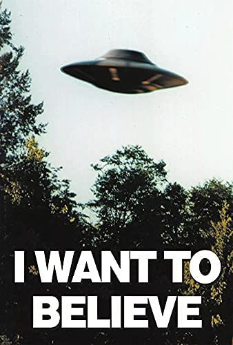 Read more about the article I Want to Believe Poster UFO Artwork Alien TV Retro 90s Wall Decor Movie Poster The Truth is Out There I Believe All Seasons Horror Movie Cool Wall Decor Art Print Poster 11 x 17 inch(28cm x 43cm)