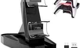 PS5 DualSense Controller Charger, Aosai Playstation 5 Controller Charger Charging Docking Station Stand.Dual USB Fast Charging Station & LED Indicator for Sony PS5 DualSense Controller (Black)