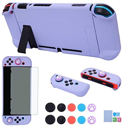 Read more about the article Dockable Case for Nintendo Switch – COMCOOL 3 in 1 Protective Cover Case for Nintendo Switch and Joy-Con Controller with Screen Protector and Thumb Grips – Purple
